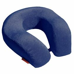 Navy Memory Foam Therapeutic Comfort U-shaped Travel Neck Pi