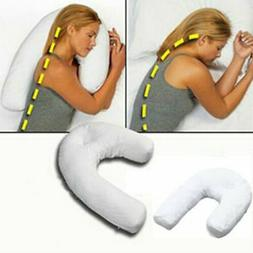 Neck & Back Pillow Sleeper Side Holds Your Neck / Spine Duri