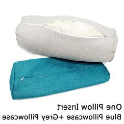 16x6 Inch Car Round Cervical Neck Pillow Semi-Roll Pillow wi
