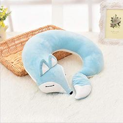 Travel Neck Chin Supporting Pillow - 100% Pure Memory Foam N