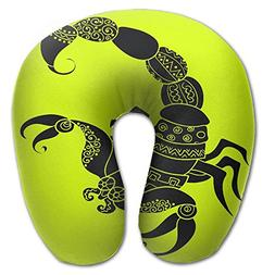 Neck Pillow With Resilient Material Scorpio Logo U Type Trav