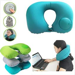 AMAZBOX Travel neck pillow Automatic Inflatable Foldable min
