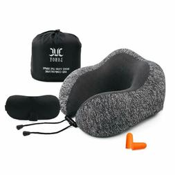 Neck Pillow for Airplane Travel, Upgrade Memory Foam Travel