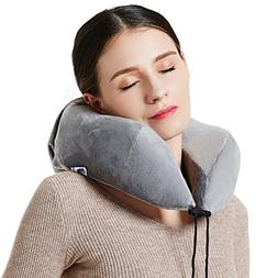 Neck Pillow-Memory Foam Travel Pillows for Airplanes
