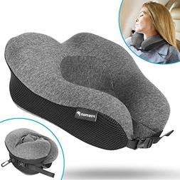 Fosmon Travel Neck Pillow, Soft and Comfortable Memory Foam