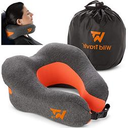 Neck Pillow for Airplane Travel - Ultra Soft Memory Foam Sup