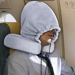 KINDEN Travel Neck Pillows with Hoop Cap Detachable Memory F