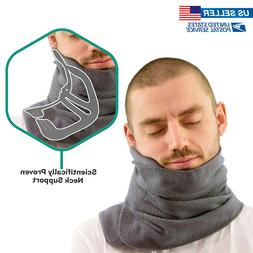 Neck Support Travel Pillow Head Chin Wrap Super Soft Fleece