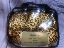 Pier 1 One Lavender Scented Neck Pillow Hot Cold Satin Leopa