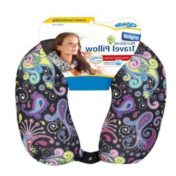 Cloudz Patterned Microbead Travel Neck Pillows - Black Groun
