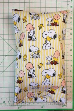 PEANUTS Snoopy & Charlie Brown sm. Pillow Case and 1 WHITE S