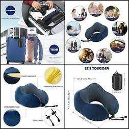 Travel Pillow - Memory Foam Neck Pillow with 360 Head & Neck