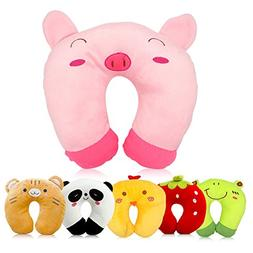 Travel Pillow for Kids Toddlers - Soft Neck Head Chin Suppor