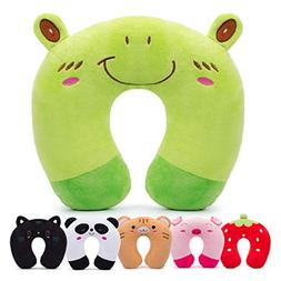 HOMEWINS Travel Pillow for Kids Toddlers - Soft Neck Head Ch