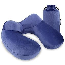 UROPHYLLA Inflatable Travel Pillow, Soft Velvet Inflatable T