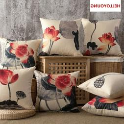 Lotus Neck Pillows Cushion Cover Pillow Case Decorative Thro