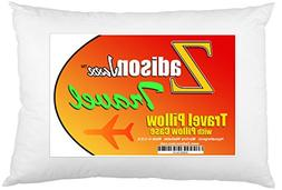 Travel Pillow With Pillowcase - Soft Hypoallergenic - Machin