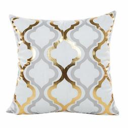 Pillow Gold Foil Printing Pillow  Waist Throw geometric infl