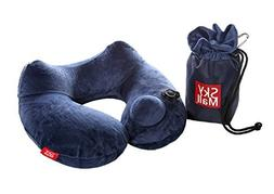 SkyMall Travel Pillow. Inflatable with Imbedded Pump. Luxuri