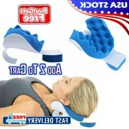 Pillow Neck and Shoulder Pain Relief Massage Traction Device