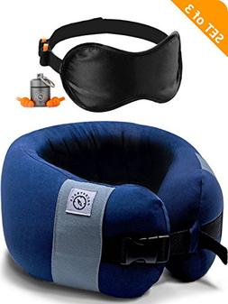 PACK4TRACK Travel Pillow Set - Uniquely Designed To Be The B