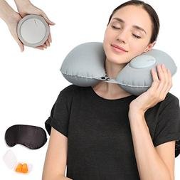 Travel Pillows for Airplanes Inflatable Super Light and Port