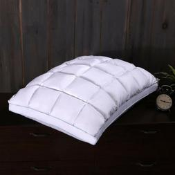 Pleated Goose Down Pillow 600TC French Bread Firm Neck Suppo