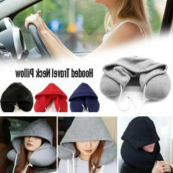 Portable Hoodie Neck U Pillow Cushion for Airplane Travel Of