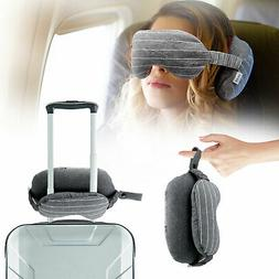 Portable Travel Neck pillow Eye Mask 2in 1 Soft Cushion Slee