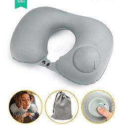 YHModel Press Pump Inflatable Travel Pillow for Airplane U S