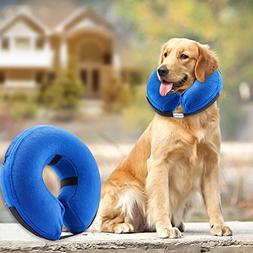 Protective Inflatable Collar Dogs pets Cats Soft Recovery Vi