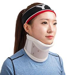 Rigid Plastic Cervical Collar with Chin Support Traction Dev