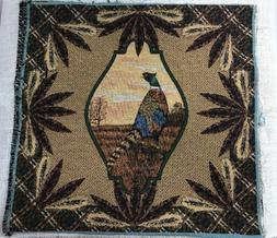 Ring Neck Pheasant feathers autumn cabin Tapestry Fabric Pil