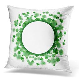 Sdamase Throw Pillow Cover Green St Patrick Day Lucky Spring