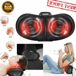 Shiatsu Massage Cushion Back Neck Massager Pillow Heat Deep