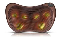 Shiatsu Massage Pillow for Back Neck Lower Back Shoulder wit
