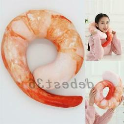 Simulation 3D U Shaped Neck Throw Pillow Shrimp Stuffed Cush