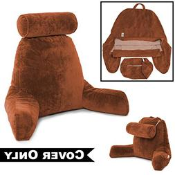Husband Pillow Tan COVER ONLY - For the Bedrest Cover Set -