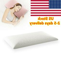 Thailand Natural Latex Pillow Cervical Ventilated Hole Flat