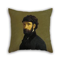 Throw Cushion Covers Of Oil Painting Claudi Lorenzale - Self