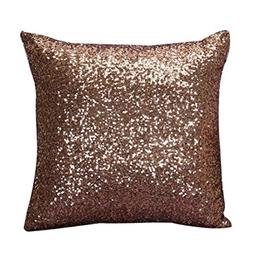 Throw Pillow Cover, Yezijin Solid Color Glitter Sequins Thro