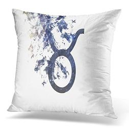 TOMKEYS Throw Pillow Cover Aries Zodiac Sign Taurus Dust of