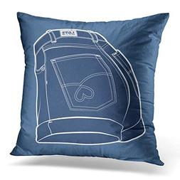 Throw Pillow Cover Blue Jeans Women's Shorts Shorts' Silhoue