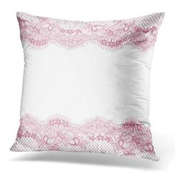 Throw Pillow Cover Curve Pink Lace Pattern Abstract Baroque