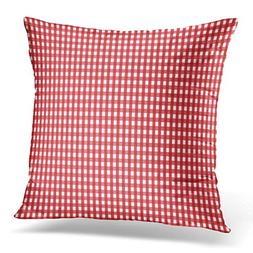 Throw Pillow Cover FireBrick Gingham from Rhombus Squares fo