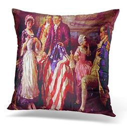 UPOOS Throw Pillow Cover General George Washington Major Ros