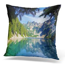 UPOOS Throw Pillow Cover Overhanging Evergreen Tree Branches