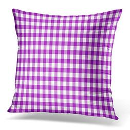 Throw Pillow Cover Violet Gingham from Rhombus Squares Plaid