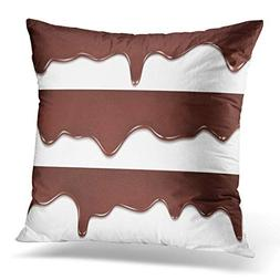 Adlington Throw Pillow Covers Brown Drip Melted Chocolate Dr