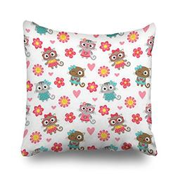 Throw Pillow Covers Cute Cats Wildlife Textures Glasses Patt